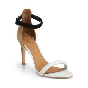 Joie- Roxie suede Color block heel sandal